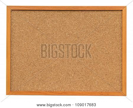 Cork Board Isolated On White With Clipping Path.