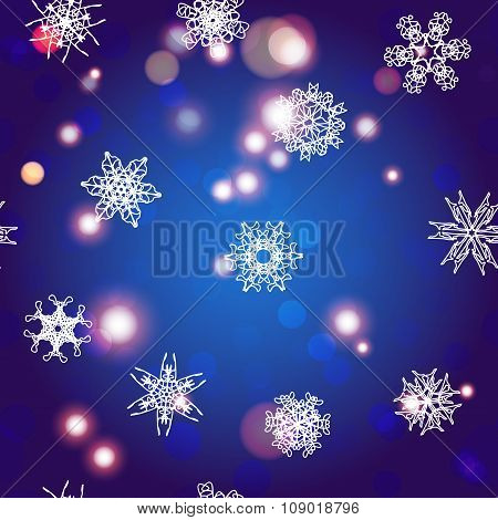 Snowflake Pattern. Christmas And New Year Concept