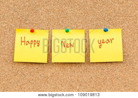 Sticky Blank Note New Year With Space For Text.