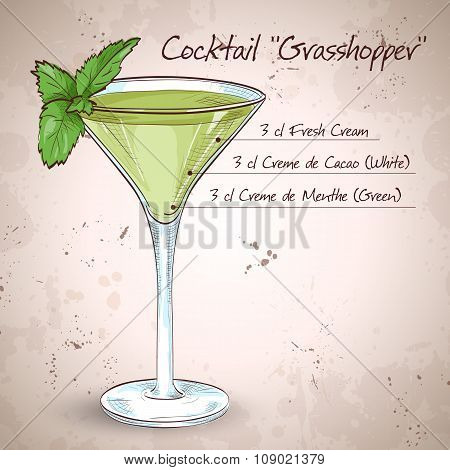 Grasshopper alcoholic cocktail