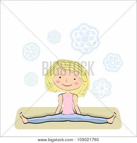 Seated Wide Angle Pose. Upavistha Konasana.