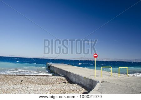 Jetty In Rhodes Island, Greece