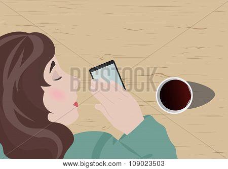 Girl Fell Asleep, Waiting For A Call From Her Boyfriend