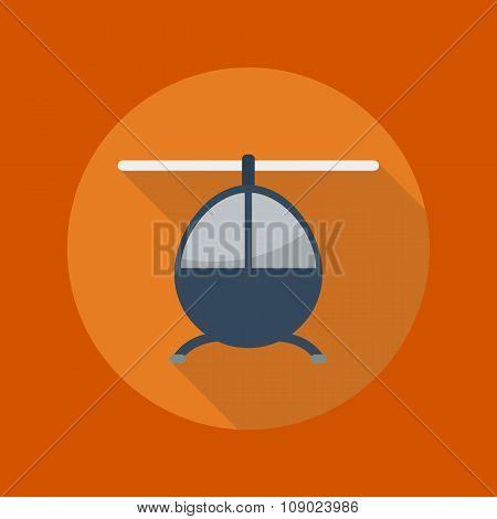 Transportation Flat Icon. Helicoptor