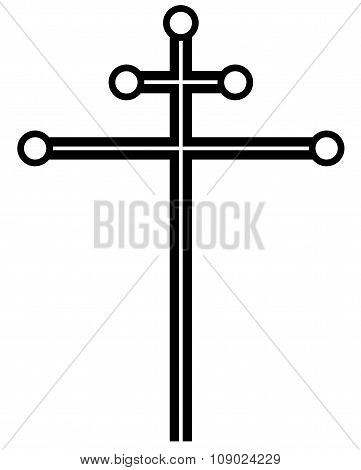 Catholic cross, vector illustration.