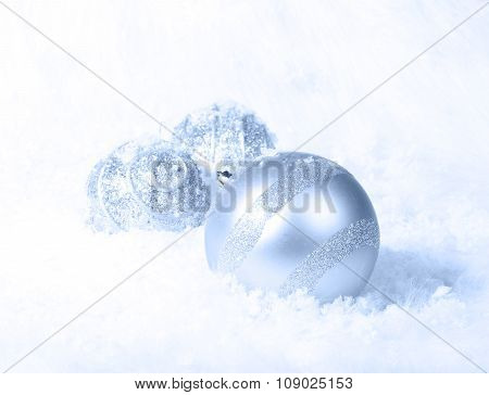 Icy Blue White Christmas Background