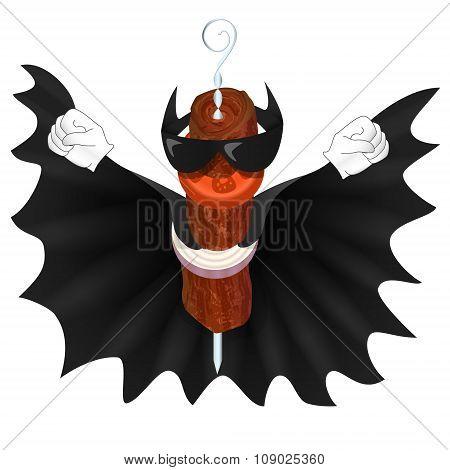 Bat Kebab man in black cloak