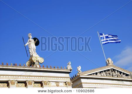 Detail Of The National Academy Of Athens (Greece)