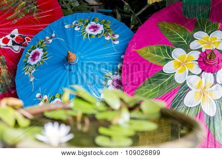 Chinese silk umbrellas