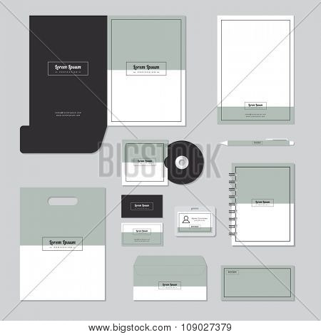 Print Stationary template design. Corporate identity business set.