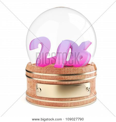 Snow Globe With 2016 Digits