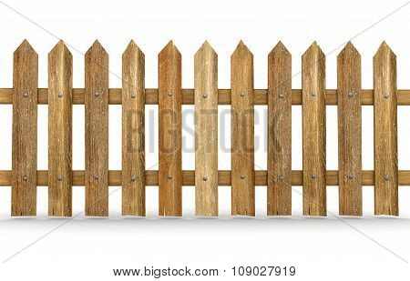 Wooden fence (clipping path included)