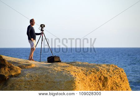 Photographer waiting for the right moment