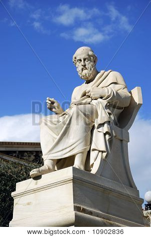 Statue Of Plato At The Academy Of Athens (Athens, Greece)