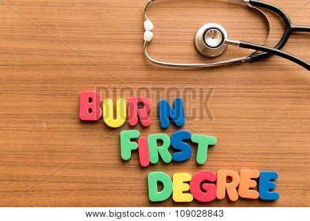 Burn, First-degree