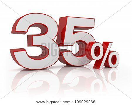 3D - 35 Percent - Red