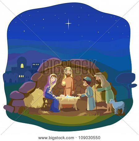 Christmas nativity scene.
