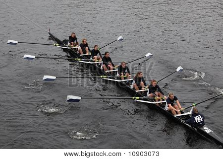 Boston - October 24: Colby College  Women's Crew  Competes In The Head Of The Charles Regatta  On Oc