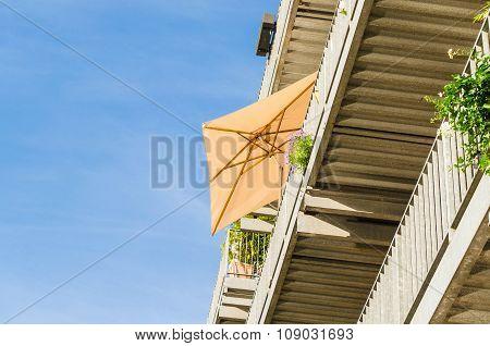 Sunshade On A Terrace,