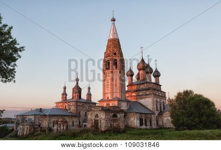 Russia, The Village Parsky. The Ensemble Of The Church Of The Beheading Of St. John The Baptist And