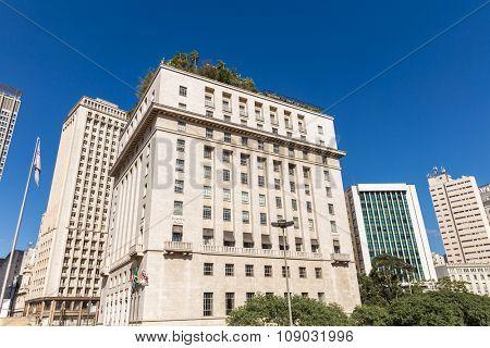 Buildings along the 9 de Julho Avenue in Sao Paulo, Brazil