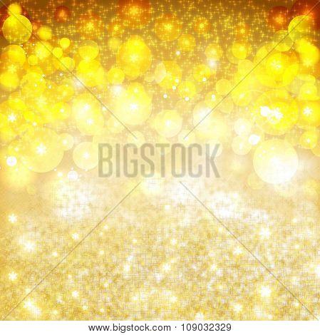 Golden Christmas Star Background Fire