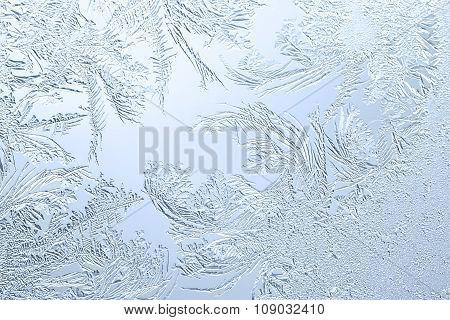 Frosty Pattern On The Window Glass