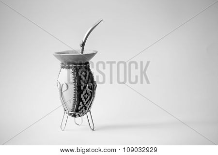Calabash Gourd Mate In Black And White
