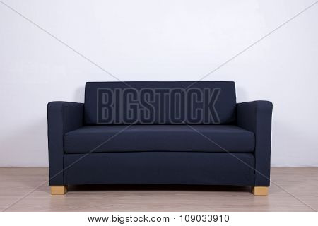 Double Gray Sofa In Living Room
