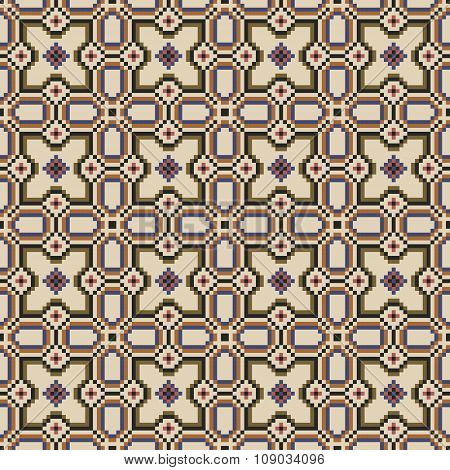 Seamless background image of vintage geometry mosaic pattern.