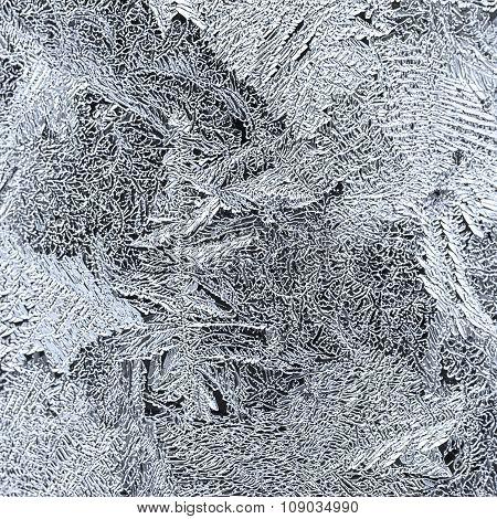 Frosty Pattern On The Glass