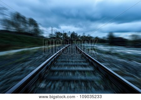 Railroad with moving effect