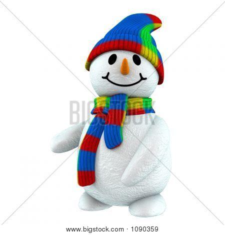 3D Snowman Point At