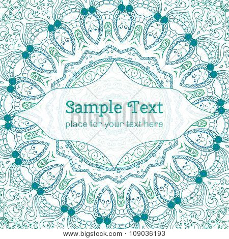 Cards Or Invitations With Mandala Pattern