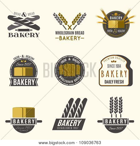 Bakery logos set