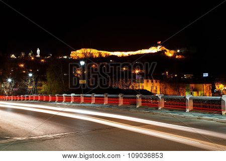 View To The Lovech Fortress By Night, Bulgaria