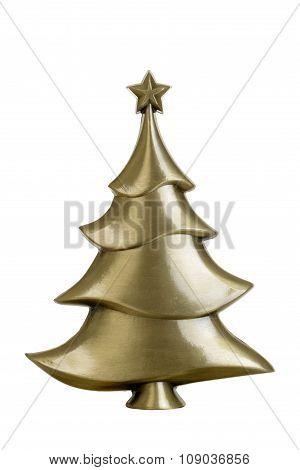 brass christmas tree