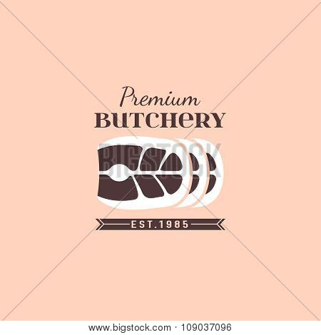 Butcher shop logo 04 A