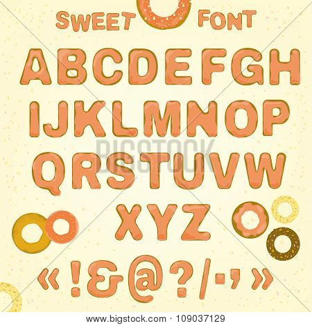 Beautiful vector Sweet font