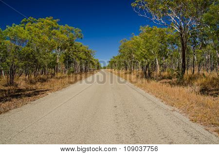 Road in the Outback, Qld. Australia