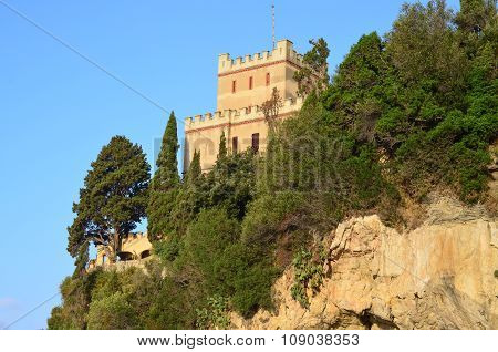 Tower On A Rock At The Resort Finale Ligure