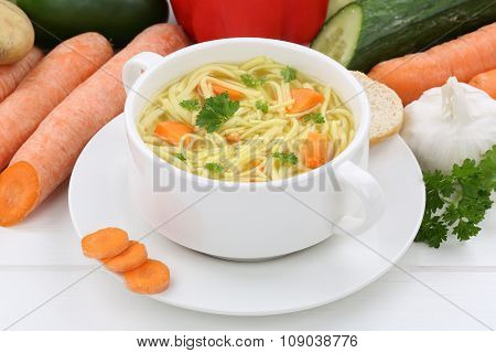 Noodle Soup In Cup With Noodles