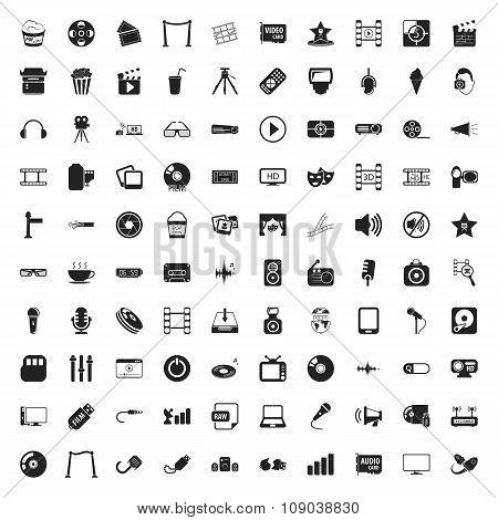 Cinema 100  Icons Set For Web