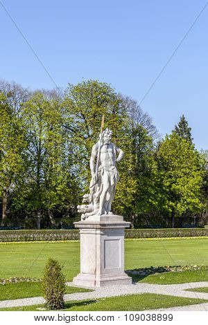 Statue Of Neptune At Nymphenburg Palace