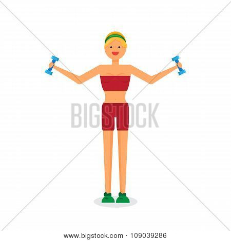 Happy Fitness Girl
