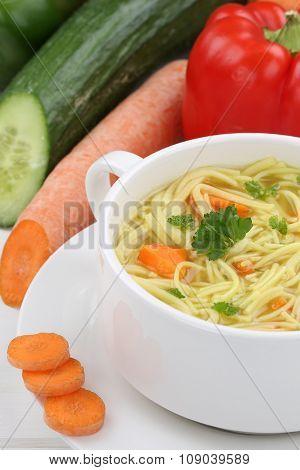 Noodle Soup Closeup