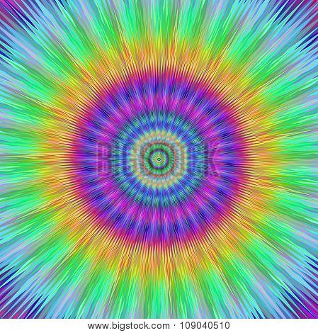 Vibrant burst fractal design