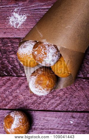 Cheese Donuts With Powdered Sugar