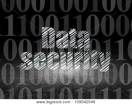 Safety concept: Data Security in grunge dark room