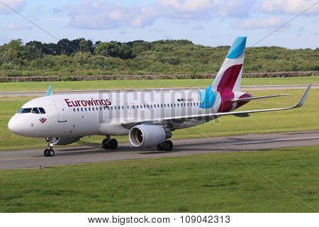 Eurowings Airbus A320 Airplane Hamburg Airport